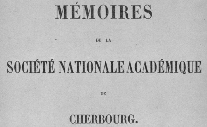 """Accéder à la page """"Société académique de Cherbourg"""""""