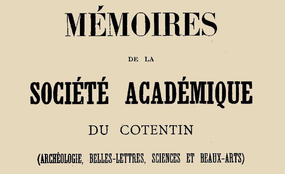 """Accéder à la page """"Société académique du Cotentin (Coutances)"""""""