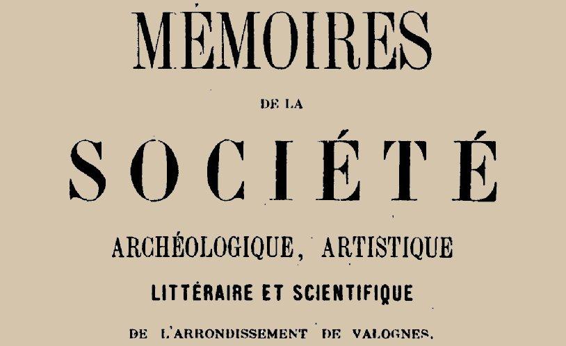 """Accéder à la page """"Société archéologique, artistique, littéraire et scientifique de l'arrondissement de Valognes"""""""
