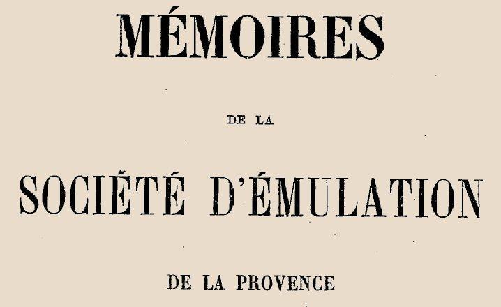 """Accéder à la page """"Société d'émulation de la Provence (Marseille)"""""""