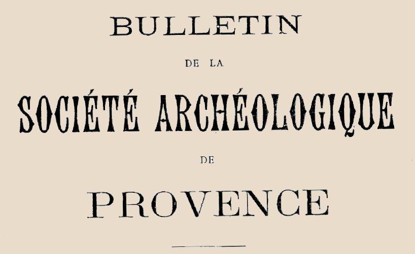 """Accéder à la page """"Société archéologique de Provence (Marseille)"""""""