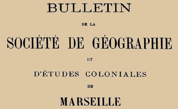 """Accéder à la page """"Société de géographie de Marseille"""""""