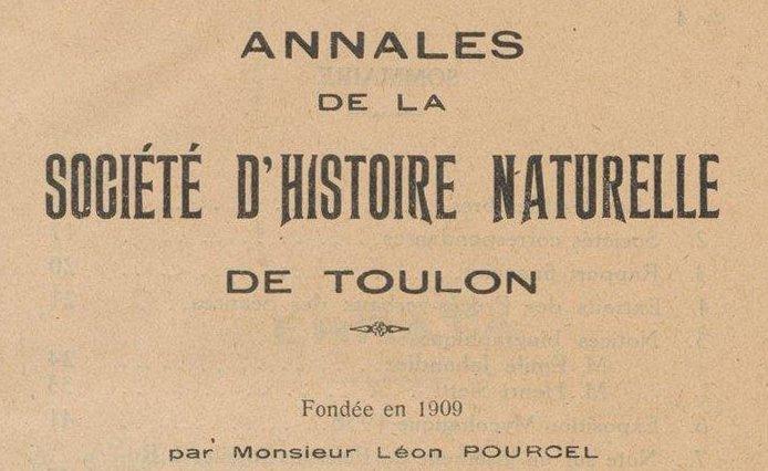 """Accéder à la page """"Société d'histoire naturelle de Toulon"""""""