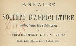 """Accéder à la page """"Société d'agriculture, industrie, sciences, arts et belles-lettres de la Loire (Saint-Etienne)"""""""