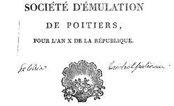 """Accéder à la page """"Société d'émulation de Poitiers"""""""