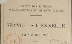 """Accéder à la page """"Société des sciences, agriculture et arts de Lille"""""""