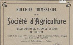 """Accéder à la page """"Société académique d'agriculture, belles-lettres, sciences et arts de Poitiers"""""""