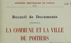 """Accéder à la page """"Société des archives historiques du Poitou (Poitiers)"""""""