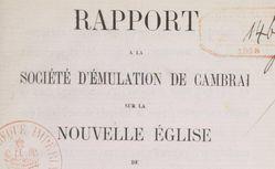 """Accéder à la page """"Société d'émulation de Cambrai"""""""