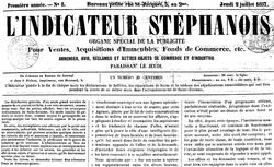 """Accéder à la page """"Indicateur stéphanois (L')"""""""