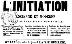 """Accéder à la page """"Initiation ancienne et moderne (L')"""""""