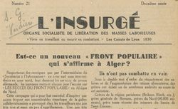 """Accéder à la page """"Insurgé (L') (Lyon)"""""""