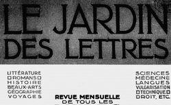 """Accéder à la page """"Jardin des lettres (Le) """""""