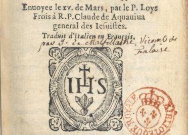 Loys Frois, Histoire de la glorieuse mort de vingt six chrestiens ...1606. Réserve des livres rares, 8-O2O-95