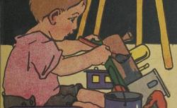 """Accéder à la page """"[Enfant peignant ses jouets] """""""