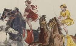 Jeux de la 4.e Olympiade, Hippodrome : estampe de  François-Hippolyte Lalaisse,