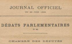 """Accéder à la page """"Journal officiel de la République française. Débats parlementaires. Chambre des députés"""""""