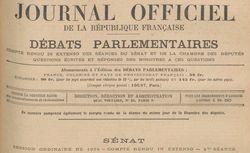 """Accéder à la page """"Journal officiel de la République française. Débats parlementaires. Sénat"""""""