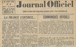 """Accéder à la page """"Journal officiel des Forces françaises de l'intérieur"""""""