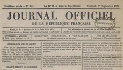 """Accéder à la page """"Journal officiel de la République française. Lois et décrets"""""""