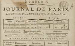 """Accéder à la page """"Journal de Paris"""""""