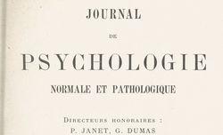 Journal de psychologie normale et pathologique