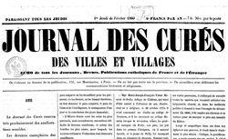 """Accéder à la page """"Journal des curés des villes et villages"""""""