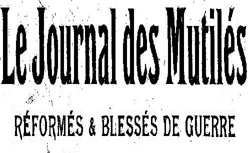 """Accéder à la page """"Journal des mutilés, réformés et blessés de guerre"""""""