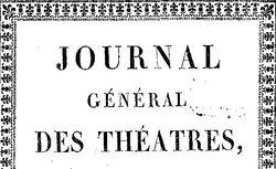 """Accéder à la page """"Journal général des théâtres"""""""