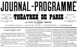 """Accéder à la page """"Journal-programme des théâtres de Paris"""""""