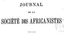 Journal de la Société des africanistes