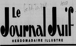 """Accéder à la page """"Journal juif (Le)"""""""