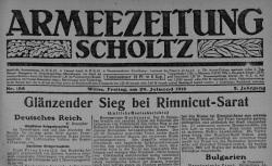 "Accéder à la page ""Armeezeitung-Scholtz, puis Litauischer Armeezeitung"""
