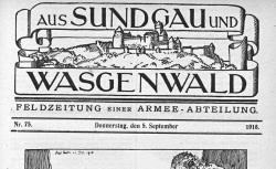 """Accéder à la page """"Aus Sundgau und Wasgenwald"""""""