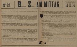"""Accéder à la page """"Bapaumer Zeitung am Mittag"""""""