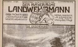 """Accéder à la page """"Bayerische Landwehrmann (Der), suite de Hohnacker neueste Nachtrichten"""""""