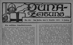 """Accéder à la page """"Düna-Zeitung"""""""