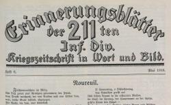 """Accéder à la page """"Erinnerungsblätter der 211. Infanterie-Division"""""""
