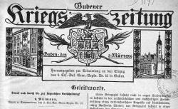 """Accéder à la page """"Gubener Kriegs-Zeitung"""""""