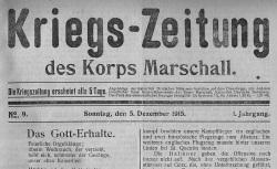 """Accéder à la page """"Kriegs-Zeitung des Korps Marschall"""""""
