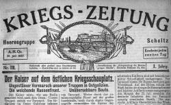 """Accéder à la page """"Kriegs-Zeitung : Heeresgruppe von Scholtz"""""""