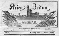 """Accéder à la page """"Kriegs-Zeitung für das XV. Armee-Korps"""""""