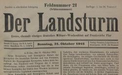 """Accéder à la page """"Landsturm (Der)"""""""