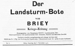 """Accéder à la page """"Landsturm-Bote von Briey (Der)"""""""