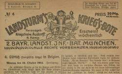 """Accéder à la page """"Landsturm's Krieg's-Bote"""""""