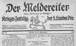 """Accéder à la page """"Meldereiter im Sundgau, puis Der Meldereiter"""""""