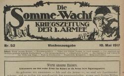 """Accéder à la page """"Somme-Wacht, puis : Kriegszeitung der 1. Armee (Die)"""""""