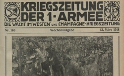 """Accéder à la page """"Wacht im Westen (Die), puis : Kriegszeitung der 1. Armee"""""""