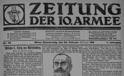 """Accéder à la page """"Zeitung der 10. Armee"""""""