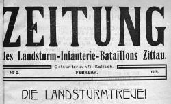 """Accéder à la page """"Zeitung des Landsturm-Infanterie-Bataillons Zittau"""""""